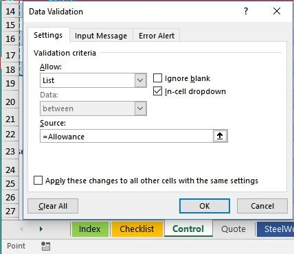 Data Validation Point Mode
