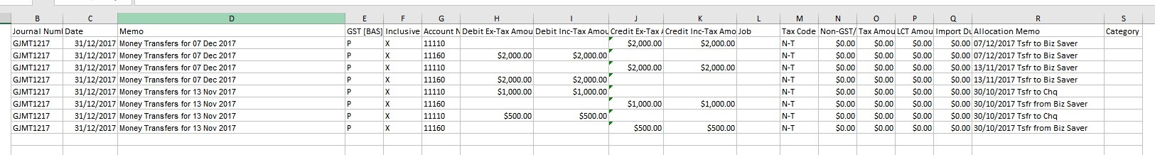 Using Advanced Filter for Bank Entries Journal Template